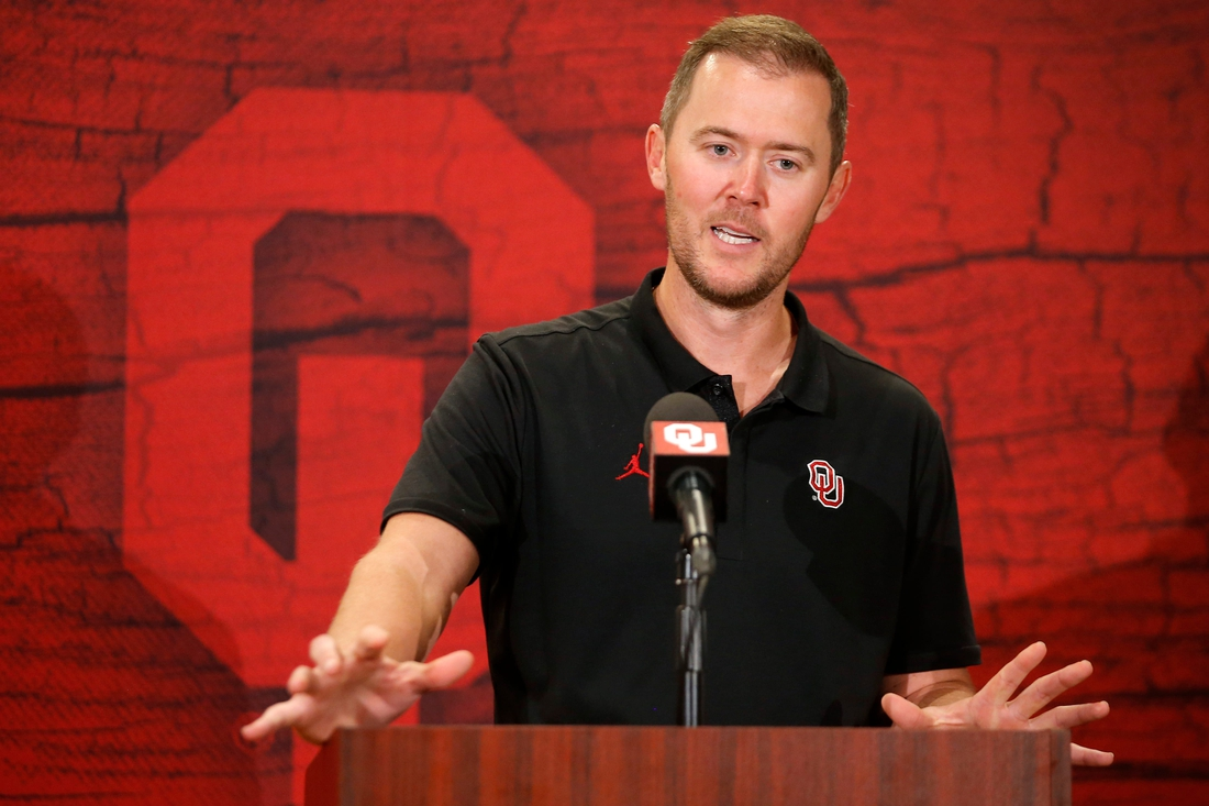 """Lincoln Riley said OU's move to the SEC is """"going to be a positive thing for this university and state.""""  cover"""