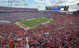 Oct 27, 2018; Jacksonville, FL, USA; The view from the Georgia side of the stadium during late first quarter action. Saturday   s annual Florida vs Georgia football game, October 27, 2018 at TIAA Bank Field in Jacksonville, FL. Bob Self-USA TODAY NETWORK  Ncaa Football Georgia Vs Florida
